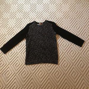Tory Burch Black/White Polka Dot Crewneck Sweater